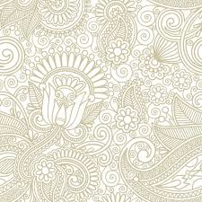 seamless flower paisley design background royalty free cliparts