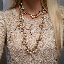 brand new pearl necklace images Latest fashion gold long chain beaded necklace pearl necklace jpg