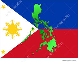 Philippines Flag Map Of Philippines Stock Picture I1322993 At Featurepics