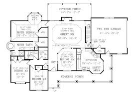 2800 square foot house plans country house plan with 3 bedrooms and 2 5 baths plan 2800