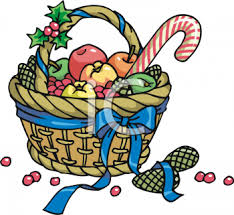 Food Gift Baskets Christmas - royalty free clipart image christmas gift basket with winter