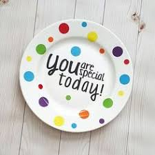you are special today plate special birthday plate go to paint your own pottery place in your