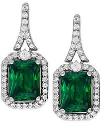 green earrings emerald earrings shop emerald earrings macy s