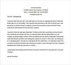 dental appeal letter template example word download templatezet