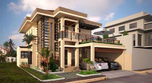 Two Storey Residential Floor Plan Two Double Storey Houses With Small Balcony Amazing Architecture