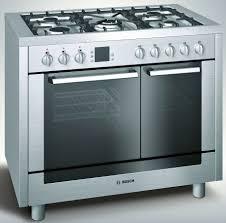 Bosch Cooktops Kitchen Best Freestanding Double Oven Gas Range Cooker From Bosch