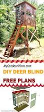 Hidden Hunter Blinds Free Deer Shooting Blind Plans For Your To Learn How To Build One