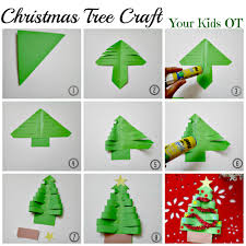 adorable easy christmas tree craft your kids ot work ideas