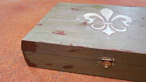 Making A Jewelry Box - antiqued diy jewelry box