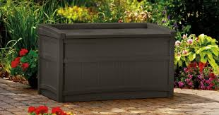 suncast 50 gallon deck box and 2 person patio swing only 78 11