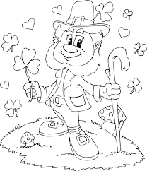 printable leprechaun pictures hat coloring page letter honorary