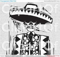 Day Of The Dead White Day Of The Dead Clipart Sombrero Pencil And In Color Day Of The