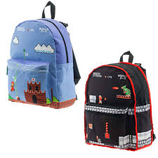 super mario bros stik wall decals geekcore nintendo classic mario reversible backpack