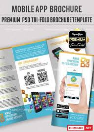 mobile app v22 premium tri fold psd brochure template all design