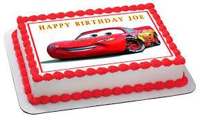 lightning mcqueen birthday cake disney pixar cars lightning mcqueen 1 edible cake topper cupcake