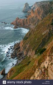 how high is 150 meters cabo da roca rocky cape steep cliff 150 meters high the stock