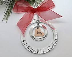family christmas ornament family initial gifts christmas