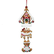 buy personalized gingerbread family ornament in