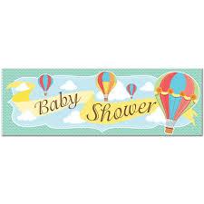 baby shower banner hot air balloon baby shower banner