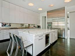 kitchen with hardwood floors u0026 wine refrigerator in new york ny