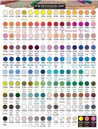 official prismacolor pencils 150 color chart colored pencil info