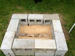 Building Outdoor Fireplace With Cinder Blocks cinder block fire pit rose u0027s pinterest creations pinterest