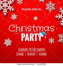 christmas party invitation poster design retro stock vector