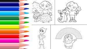 learn colors kids color dora coloring dora