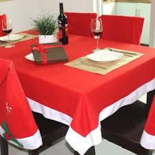 online get cheap cheap plastic tablecloths aliexpress com christmas tablecloth set 6 pcs chairs cover and 1 pc table cloth manteles para mesa navidad