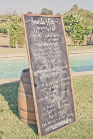 chalkboard program wedding real weddings lavender wedding colors chalkboard program