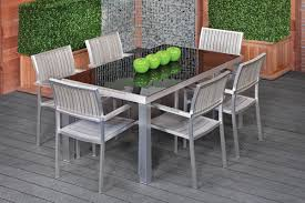 6 Seater Dining Table Design With Glass Top Outdoor Garden Furniture Set For Outdoor Activity Stylishoms