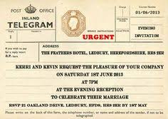 Telegram Wedding Invitation Personalised Telegrams 50 Old Telegram Wedding Invitations