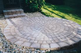 Paver Patio Kits 6 1 2 Tumbled Circle Paver Kit At Menards