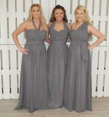 light grey infinity dress infinity multiway dress plussize that special day bridal warehouse