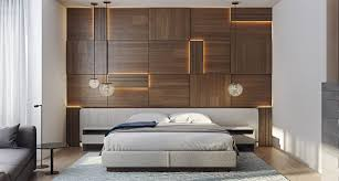 wooden wall designs bedroom led lit wooden wall panelling ideas designs 30 striking