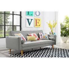 9 by novogratz vintage linen mix futon multiple colors walmart com