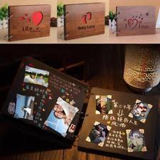 Photo Album Guest Book Wood Wedding Photo Album Ebay