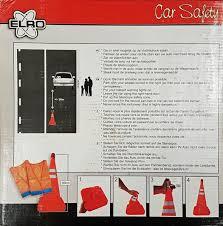 si e auto la route driver and car safety set folding hazard cone 2 hazard