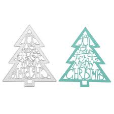 christmas tree decorations metal cutting dies stencils for diy