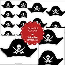 printable cut pirate hat u2014 printable treats