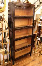 Dark Bookcase Shaw Walker Antique Dark Brown Barrister Bookcase At 1stdibs