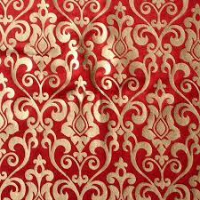 Red And Gold Damask Curtains Red Damask Printed Velvet Fabric By The Yard Velvet Fabric With