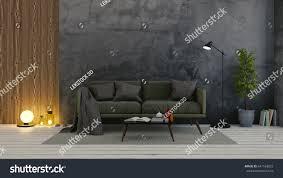 modern loft interior living roomdark green stock illustration