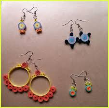 paper ear rings quilling earrings simple and pretty 5 steps with pictures