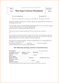 Legal Separation Letter by Marriage Contract Sample Sample Marriage Separation Agreement Form