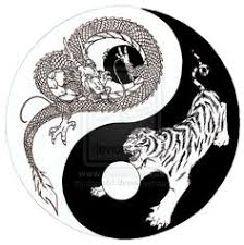 marketplace tattoo chinese tiger dragon yingyang 2845