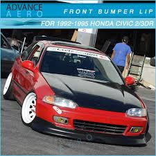 94 honda civic eg hatchback pu cs style front bumper lip for 1992 1993 1994 1995 honda civic