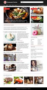 website template 52021 review restaurant food custom website
