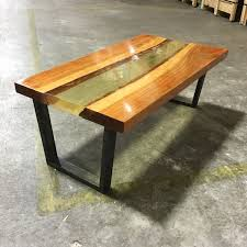 Industrial Wood Coffee Table by Live Edge River Table Live Edge River Table Vintage Industrial