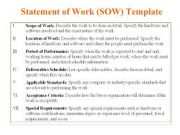 sow template statement of work template madinbelgrade